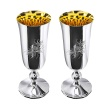 Two Polished Silver Champagne Glasses. Hypoallergenic Antibacterial 925 Silver