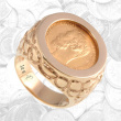 Nugget Design Gold Coin Signet