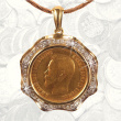 Diamond Gold 10 Rubles Pendant