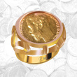 Open-Worked Coin Ring