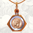 Gold 5 Rubles Mother-of-Pearl Pendant