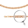 Nonna-link Chain, Width 3.8mm. Diamond-cut Solid 585 (14kt) Rose Gold