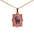 Laser-cut Rose Gold Pendant 'Aries Zodiac'