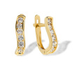 Channel Set CZ Curved Earrings