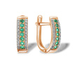 Emerald and Diamond Striped Earrings