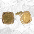 Russian Gold 5 Rubles Cufflinks
