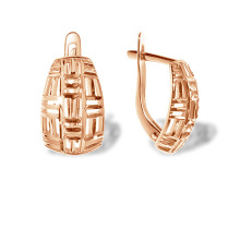 Latticework Rose Gold Earrings