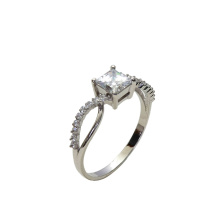 Princess Cut CZ Engagment Ring