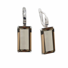 Metaphysical Silver Earrings With Colored CZ