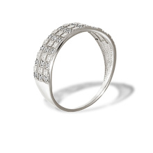 Diamond Diamond-cut White Gold Ring