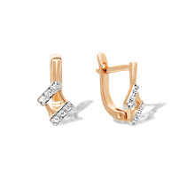 CZ Kids Leverback Earrings