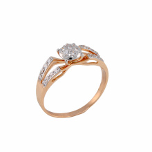 CZ Double Shank Ring