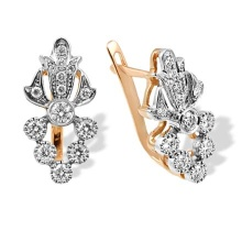 Art Nouveau Style Diamond Earrings