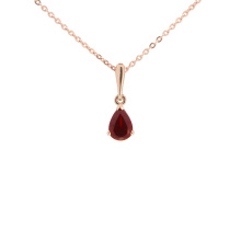 Pear-shaped Garnet Pendant. Metaphysical Garnet