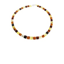 Amber Square Links Necklace