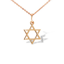 Star of David Gold Pendant