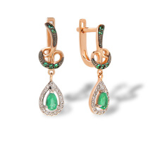 A Decadent Era-inspired Emerald Earrings