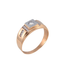 CZ Rose Gold Signet for Him