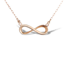 Diamond Infinity Necklace. 585 (14K) Hypoallergenic Rose Gold