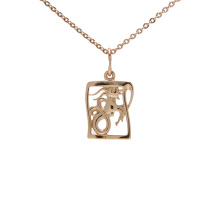 Rose Gold Pendant 'Capricorn Zodiac'. December 22 - January 20