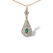 Certified Emerald and Diamond Pendant