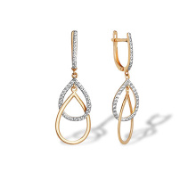 Overlapping CZ Teardrop Earrings