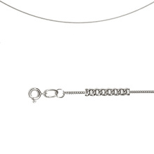 Single Curb Chain (0.4mm  Silver Solid  Wire)