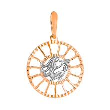 Sunburst-inspired Pendant 'Virgo Zodiac'. (August 23-September 22)