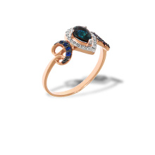 Diamond and Sapphire Rose Gold Ring
