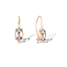Multicolored CZ Kids Earrings