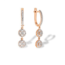 Diamond Chandelier Style Dangle Earrings