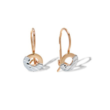 Diamond Cut Circle Kids Earrings