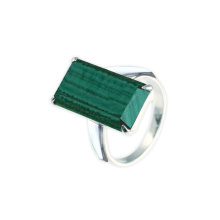 Metaphysical Malachite Silver Ring