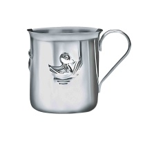 'Three Ducklings' Baby Silver Cup. Hypoallergenic Antimicrobial 925/999 Silver