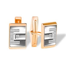 Modernist Cufflinks. 585 (14K) Rose and White Gold