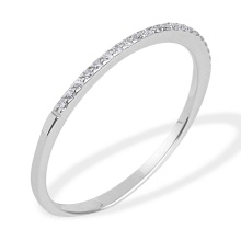 Slim Diamond Wedding Ring. 585 (14kt) White Gold