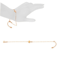 CZ-accented Gold Heart Bracelet