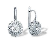Certified Diamond Crowned Dome Earrings