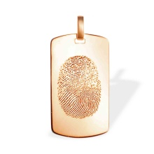 Fingerprint Monogram Pendant. 585 (14kt) Rose Gold