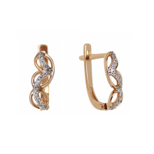 Leverback gold earrings