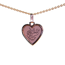Cupid Heart Rose Gold Pendant