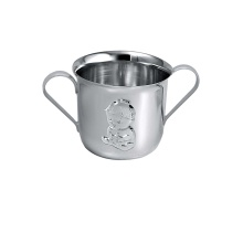 'A Kiddy Girl' Silver Two Handle Tankard
