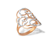 Full-finger Rose Gold Ring