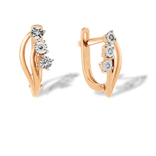 Illusion Set Six Diamonds Earrings