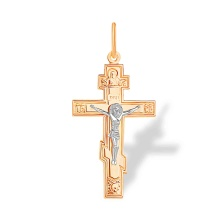 The Savior of the Hands Body Cross for Men. Hypoallergenic 585 Rose and White Gold