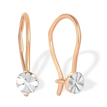 The First Earrings for Babies and Toddlers. 585 (14K) Rose Gold
