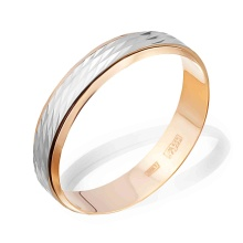 Spinner Wedding Band. 4.9mm in Width. 585 (14kt) Rose and White Gold