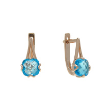Cushion-cut Blue Topaz Earrings
