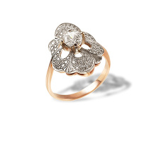 Faberge Era-inspired Certified Diamond Ring