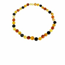 Amber Button Necklace